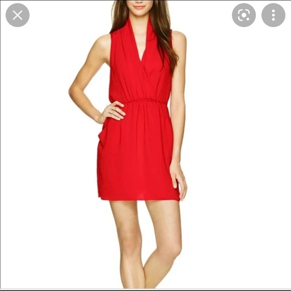 Wilfred from Aritzia Sabine dress in red
